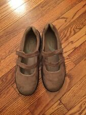 Ladies Propet Brown Suede Mary Janes Size 10