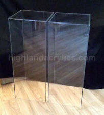 "Clear Acrylic Pedestal Column Pillar 12"" x 12"" x 36"" High"