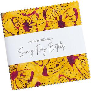 "Sunny Day Batiks Moda Charm Pack 42 100% Cotton 5"" Precut Quilt Squares"