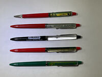 Vintage Floaty Pens Lot Of Five (5) MD PA CT CUNARD HEINZ Working Ink Dry