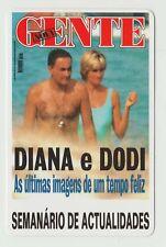 1998 Portugese Pocket Calendar featuring mag cover Princess Diana Dodi Fayed