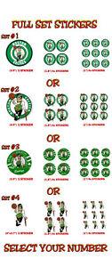 Boston Celtics Decal Sticker ps NEW Lot Stickers