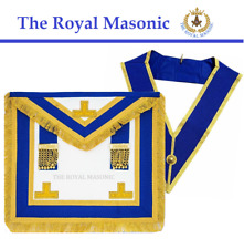 More details for hand made masonic craft provincial full dress apron & collar   the royal masonic