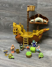 """VeggieTales """"Pirates Who Won't Do Anything"""" Pirate Ship Incomplete Blue Box"""