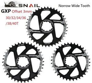 Snail GXP Offset 3mm SRAM Direct Mount Bike Single Chainring 30/32/34/36/38/40T