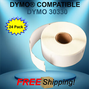 24 Rolls 30330 Dymo® Compatible Thermal 500 Labels Per Roll Waterproof Adhesive