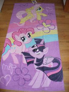 """NWT My Little Pony Beach Bath Towel Plush 28"""" x 58""""  Cute!"""