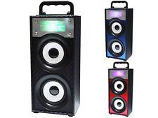 QFX BT-139 Portable/Rechargeable Speaker +Bluetooth +USB/SD/FM +LED Disco Light