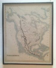 19th c Hand Colored Map of North America By Fenner and Sears