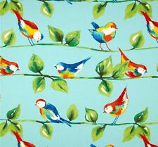 Outdoor/ Indoor ~ Upholstery ~ Birds on Branches ~ Blue ~ Fabric ~ per 1/4 yard