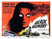 FILM BLACK SUNDAY HORROR STEELE RICHARDSON ART PRINT POSTER BB7858