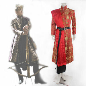 new! Game of Thrones King Joffrey Baratheon Medieval Mens Cosplay Costume