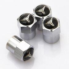 Car Wheel Tire Valve Dust Stems Air Cover Cap Accessories Logo For Mercedes-Benz