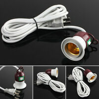 Home E27 Edison Screw Light Lamp Bulb Holder Cap Socket Switch Power Cable Cords