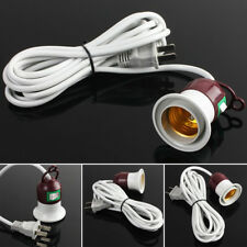 Home E27 Edison Screw Light Lamp Bulb Holder Cap Socket Switch Power Cable Cords