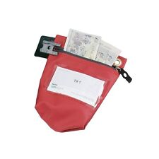 Versapak Cash Bag With Zip Small Red CCBO-RDS For Use With Security Seals 311698