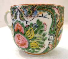 "vintage 1930's Rose Canton china 3"" tall porcelain teacups w/ dragon motif"