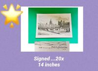 Muirhead Bone 🌟SIGNED 🌟Print The Centenary of the Oxford Movement 1933