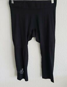 adidas Men's Alphaskin Sport 3/4 Tights, Black, Large, MSRP$30