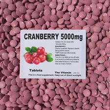 CRANBERRY 5000mg 365 TABLETS (1 or 2 per day) (L)