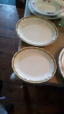 2 x  1936 - 1954? GRINDLEY CREAM PETAL OVAL PLATTER BOWLS 11 & 12 INCHES