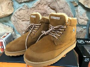Dallas Cowboys Tailgate Boots Mens 9 Lined Brown Boots FOCO Forever Collectible