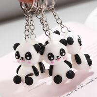 Kawaii Cute Cartoon Silicone Panda Keychain Keyring Bag Pendant Holder Jewelry