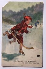 HOCKEY PLAYER 1919 Postcard Montreal Canada Canadian Child Studies Hockey Player