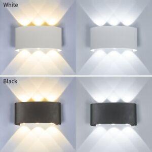 1/10x LED Wall Light 2W 4W 6W 8W Up Down Sconce Lamp Light Fixture White / Black