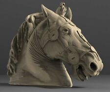 STL 3D Models # HORSE HEAD # for CNC 3D Printer Engraver Carving Aspire ARTCAM