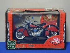 Guiloy 1:10 1948 Indian Chief 348 Diecast Motorcycle Red/Black REF: 17650