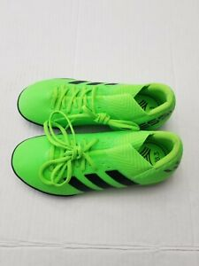 Adidas Kids Messi Soccer Shoes Solar Green/Core Size 1