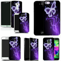 art case cover for All popular Mobile Phones - purple sparkle butterfly silicone
