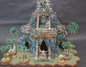 Heroscape Custom Terrain - Mayan Ruined Temple... OF DOOM!!!!