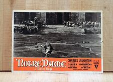 NOTRE DAME fotobusta poster Laughton Hugo O'Hara Quasimodo-The Hunchback of D22