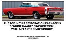 DODGE CORONET 440, 500 and R/T CONVERTIBLE TOP DO IT YOURSELF PKG 1967-1970