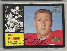 2001 Team Topps Legends Football Billy Kilmer Autographed Card  (CSC)