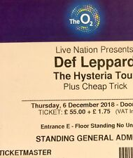x2 Def Leppard Concert Tickets - Standing - 6th December - London o2 - TOMORROW