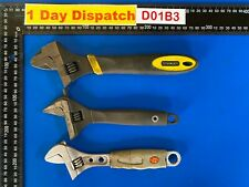 More details for joblot of stanley and other makes hand tools adjustable wrenches