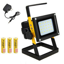 Portable 30W 20LED Flood Light Spot Work Lamp Outdoor Camping+ 3x18650+Charger