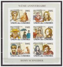 0714 Comores 2008 Movie star Romy Schneider S/S Mnh imperf