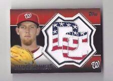 2013 Topps baseball card #CP-24 Stephen Strasburg, Washington Nationals DC patch
