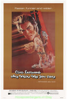 ANY WHICH WAY YOU CAN MOVIE POSTER ORIGINAL ROLLED 27x41 BOB PEAK ARTWORK