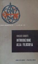 VINCENZO GIOBERTI INTRODUZIONE ALLA FILOSOFIA EDIZIONI PAOLINE 1959