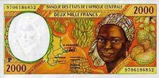 East African States - Tchad 1997 banconota nove di 2000 franchi pick 603d UNC