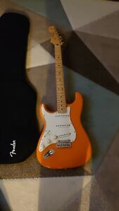 Fender Player Stratocaster Capri Orange Left Handed Electric Guitar With Gigbag
