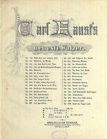 """"""" Märchen aus schöner Zeit """" Walzer von Carl Faust Op. 96 alte Noten übergroß"""