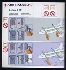 AIR FRANCE airline SAFETY CARD Airbus A 321 airlines brochure 08/12 ee e676
