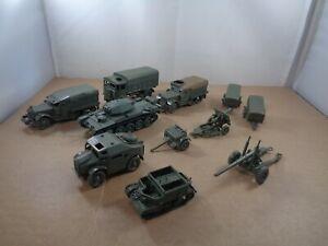 AIRFIX 1:76 Scale Military Lot - M3A1 Half Track/AEC Matador/Morris & Gun/Bren