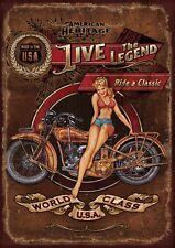 "Harley Davidson HERITAGE 10x8"" Retro Vintage Metal Advertising Sign Wall Art Pic"